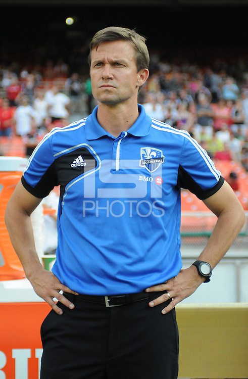 Montreal Impact head coach Jesse Marsch. D.C. United defeated Montreal Impact 3-0 at RFK Stadium, Saturday June 30, 2012.