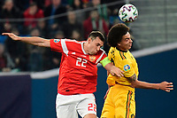 Axel Witsel midfielder of Belgium, Artem Dzyuba forward of Russia  <br /> Saint Petersbourg  - Qualification Euro 2020 - 16/11/2019 <br /> Russia - Belgium <br /> Foto Photonews/Panoramic/Insidefoto <br /> ITALY ONLY