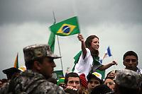bienvenida en Copacabana, el Papa Francisco
