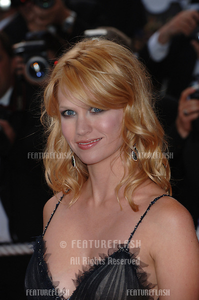 Actress JANUARY JONES at the Awards Ceremony & screening of Chromophobia at the 58th Annual Film Festival de Cannes..May 21, 2005 Cannes, France..© 2005 Paul Smith / Featureflash
