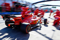 March 15, 2019: Charles Leclerc (MCO) #16 from the Scuderia Ferrari team returns to his garage during practice session two at the 2019 Australian Formula One Grand Prix at Albert Park, Melbourne, Australia. Photo Sydney Low