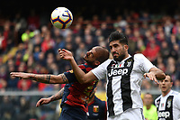 Stefano Sturaro of Genoa and Emre Can of Juventus compete for the ball during the Serie A 2018/2019 football match between Genoa CFC and Juventus FC at stadio Luigi Ferraris, Genova, March 17, 2019 <br /> Photo Andrea Staccioli / Insidefoto