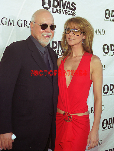 Celine Dion and husband Rene Angelil at 2002 VH1 Divas at MGM Grand in Las Vegas