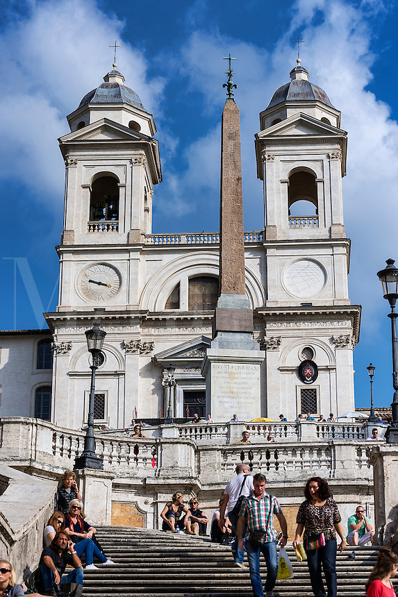 Tourists on the The Spanish Steps,  Rome, Italy