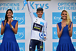 Simon Yates (GBR) Orica-Scott retains the White Jersey at the end of Stage 12 of the 104th edition of the Tour de France 2017, running 214.5km from Pau to Peyragudes, France. 13th July 2017.<br /> Picture: ASO/Pauline Ballet | Cyclefile<br /> <br /> <br /> All photos usage must carry mandatory copyright credit (&copy; Cyclefile | ASO/Pauline Ballet)