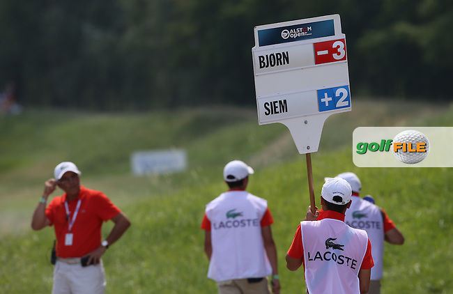 Thomas Bjorn (DEN) eagle on 3 gets him moving during Round Three of the 2015 Alstom Open de France, played at Le Golf National, Saint-Quentin-En-Yvelines, Paris, France. /04/07/2015/. Picture: Golffile | David Lloyd<br /> <br /> All photos usage must carry mandatory copyright credit (&copy; Golffile | David Lloyd)
