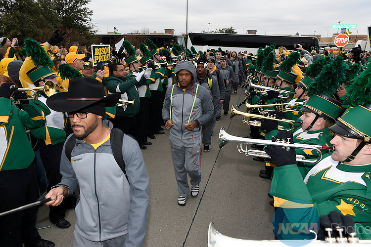 10 JAN 2015: North Dakota St. takes on Illinois St. University during the Division I Men's Football Championship held at Toyota Stadium in Frisco, TX. Justin Tafoya/NCAA Photos
