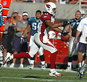 Larry Fitgerald, of the Arizona Cardinals, in action  during thier game against the Tennessee Titans on October 23, 2005...Titans win 10-0...Nils Nilson / SportPics