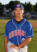 2007:  Chi-Hung Cheng of the Auburn Doubledays poses for a photo prior to a game vs. the Batavia Muckdogs in New York-Penn League baseball action.  Photo copyright Mike Janes Photography 2007.