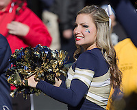 Pitt Cheerleader. The Louisville Cardinals defeated the Pitt Panthers 45-35 at Heinz Field, Pittsburgh PA on October 13, 2012.