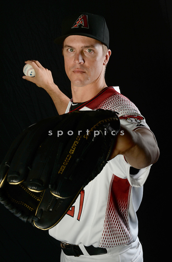 Arizona Diamondbacks Zack Greinke (21) during photo day on February 28, 2016 in Scottsdale, AZ.