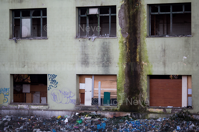 Rome, 10/12/2018. Today, the derelict former factory of the Penicillin in the east area of Rome was evicted and evacuated by a conspicuous number police officers in full riot gears (Polizia and Carabinieri) supported by fire fighters and the Rome municipal police. The abandoned and run-down factory once was home to an estimated 500 people, including migrants of different nationalities but also Italian families who lived in extreme poverty and poor hygienic and health conditions (presence of asbestos and others). The eviction, which saw the last 35 inhabitants took away on a bus by the police, was attended by the far-right leader of League (Lega), anti-immigration Minister of the Interiors and Deputy Prime Minister, Matteo Salvini. A group of protesters and activists held a rally against the eviction without a plan to rehouse the people of the Ex Penicillin but it was kept away from the main gate of the raw-concrete skeleton building.<br /> On the same day the 70th Anniversary of the Universal Declaration of Human Rights (UDHR, 1.), was marked outside the Colosseum projecting the Article 1 of the Declaration on the Historic symbol of Rome: <<All human beings are born free and equal in dignity and rights. They are endowed with reason and conscience and should act towards one another in a spirit of brotherhood>> (2.).<br /> <br /> 1. http://www.un.org/en/udhrbook/pdf/udhr_booklet_en_web.pdf<br /> 2. See my Story here: https://bit.ly/2PyLWeK