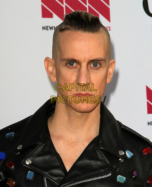Jeremy Scott.LOGO's 2012 'NewNowNext' Awards held at Avalon, Hollywood, California, USA..5th April 2012.headshot portrait black beads beaded embellished jewel encrusted leather   .CAP/ADM/FS.©Faye Sadou/AdMedia/Capital Pictures.
