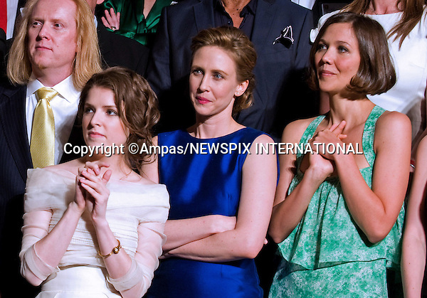 82nd OSCARS NOMINEES LUNCHEON.Anna Kendrick, Vera Farmiga and Maggie Gyllenhaal at the Oscar Nominees Luncheon in Beverly Hills, February 15, 2010. .Academy Awards for outstanding film achievements of 2009 will be presented on Sunday, March 7, 2010 at the Kodak  Theatre, Hollywood, Los Angeles.PHOTO CREDIT:NEWSPIX INTERNATIONAL  .(Failure to by-line the photograph will result in an additional 100% reproduction fee surcharge. You must agree not to alter the images or change their original content)..            *** ALL FEES PAYABLE TO: NEWSPIX INTERNATIONAL ***..IMMEDIATE CONFIRMATION OF USAGE REQUIRED:Tel:+441279 324672..Newspix International, 31 Chinnery Hill, Bishop's Stortford, ENGLAND CM23 3PS.Tel: +441279 324672.Fax: +441279 656877.Mobile: +447775681153.e-mail: info@newspixinternational.co.uk