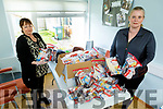 Mary O'Sullivan and Kathleen O'Connor at the Tralee International Resource Centre as the prepare care packages for people in Direct provision on Thursday.