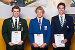 Boys Water Polo finalists Scott Graham, Tom Kearns & Aiden Thornhill. ASB College Sport Auckland Secondary School Young Sports Person of the Year Awards held at Eden Park on Thursday 12th of September 2009.