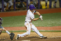 LSU Tigers shortstop Alex Bregman (8) swings the bat during a Southeastern Conference baseball game against the Texas A&M Aggies on April 23, 2015 at Alex Box Stadium in Baton Rouge, Louisiana. LSU defeated Texas A&M 4-3. (Andrew Woolley/Four Seam Images)