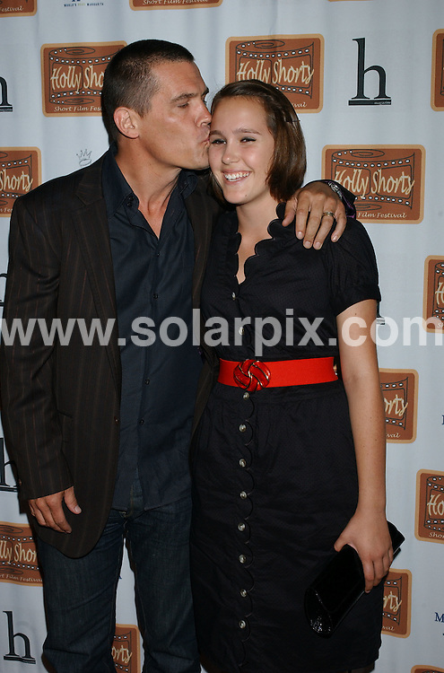 **ALL ROUND PICTURES FROM SOLARPIX.COM**.**SYNDICATION RIGHTS FOR UK, SPAIN, PORTUGAL, AUSTRALIA, S.AFRICA & DUBAI (U.A.E) ONLY**.arrivals for the 4th Annual HollyShorts Short Film Festival at the Egyptian Theatre, Hollywood, CA, USA. 7th August 2008..This pic: Josh Brolin and Eden Brolin..JOB REF: 6995 PHZ/Lowe    DATE: 07_08_2008.**MUST CREDIT SOLARPIX.COM OR DOUBLE FEE WILL BE CHARGED* *UNDER NO CIRCUMSTANCES IS THIS IMAGE TO BE REPRODUCED FOR ANY ONLINE EDITION WITHOUT PRIOR PERMISSION*