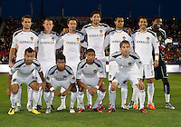13 April 2011: The  Los Angeles Galaxy starting eleven  during an MLS game between Los Angeles Galaxy and the Toronto FC at BMO Field in Toronto, Ontario Canada..The game ended in a 0-0 draw.