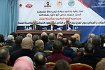Palestinian President, Mahmoud Abbas, attends a meeting of the International Conference Against Corruption in the West Bank city of Ramallah, on December 8, 2018. Photo by Thaer Ganaim