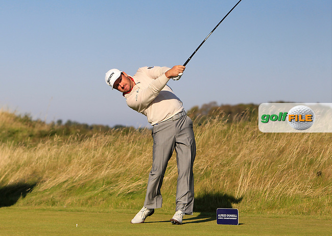 Greame McDowell (NIR) on the 11th tee during Round 2 of the 2015 Alfred Dunhill Links Championship at Kingsbarns in Scotland on 2/10/15.<br /> Picture: Thos Caffrey | Golffile
