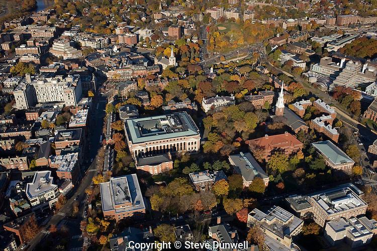 Harvard campus aerial view, Cambridge, MA