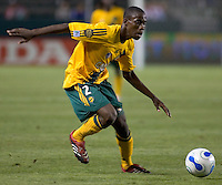 LA Galaxy Def Kennedy Owusu-Ansah.  Necaxa defeated LA Galaxy 1-0 in an International friendly match at The Home Depot Center in Carson, California, Wednesday July 12, 2006.