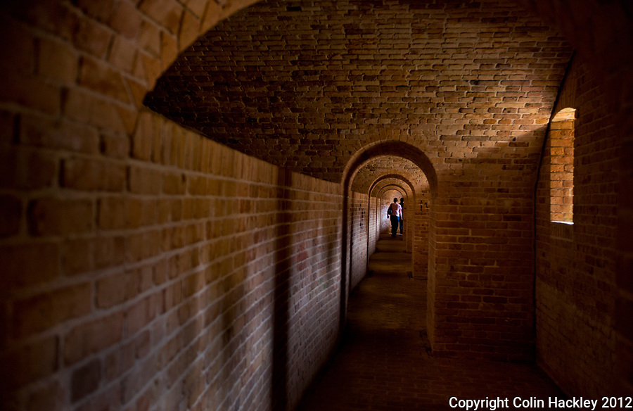 From 1839-44 the U.S. Army brought a slave labor force to Pensacola to build the brick fortifications of Fort Barrancas.<br /> COLIN HACKLEY PHOTO