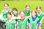 Having a ball at the Holy Cross NS sports day in Dr Crokes GAA grounds on Friday was l-r: Linda Sahita, Eva Buckley, Lucy Keane, Rebecca Murphy, Lorna O'Sullivan, Fianait O'Donovan and Emma Lenihan.   Copyright Kerry's Eye 2008