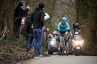 Hugo Houle (CAN/Astana) coming up the Côte du Trieu<br /> <br /> 72nd Kuurne-Brussel-Kuurne 2020 (1.Pro)<br /> Kuurne to Kuurne (BEL): 201km<br /> <br /> ©kramon
