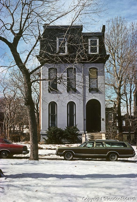 St. Louis: House on Benton Place. Photo '77.