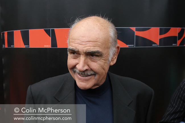 Legendary Scottish film star Sir Sean Connery arriving at Cineworld where he received a BAFTA for lifetime achievement at an event which took place on the star's 76th birthday and was part of the Edinburgh International Film Festival. The Festival which ran from 14th to 27th August featured films from across the world and was at the time the world's longest running film festival.