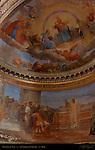 Apse Frescoes Vault Angels and Prophets Luigi Martoni 1862 lower fresco Romano 1470 San Nicola in Carcere Rome