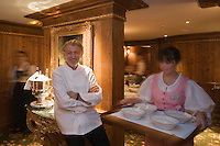 Europe/France/Rhone-Alpes/73/Savoie/Courchevel: Pierre Gagnaire dans son Restaurant: Pierre Gagnaire pour les Airelles à l'Hotel Les Airelles [Non destiné à un usage publicitaire - Not intended for an advertising use]