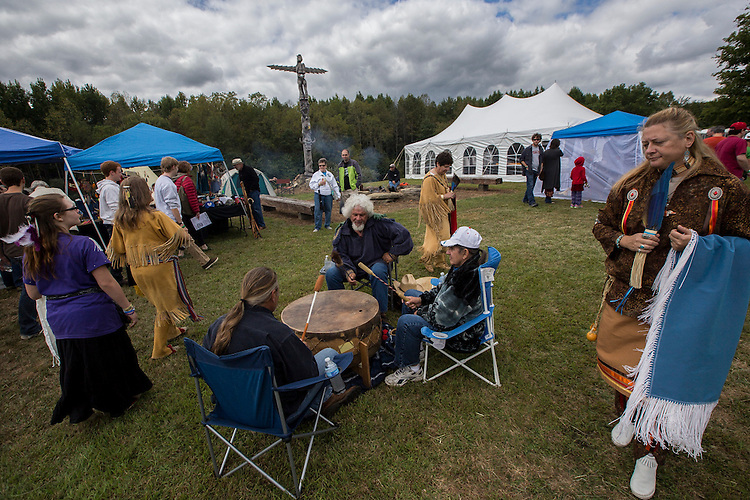 The Native American culture is celebrated on Saturday at Athens County's Pawpaw Festival. Photo by Katelyn Vancouver