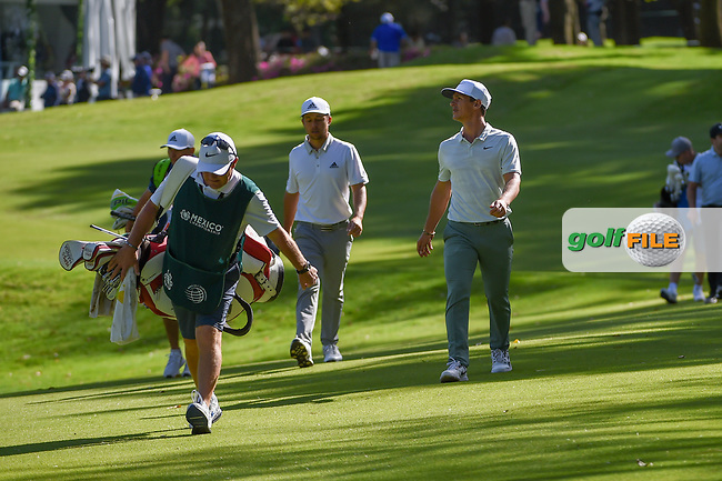 Xander Schauffele (USA) and Thorbjorn Olesen (DEN) make their way down 7 during round 1 of the World Golf Championships, Mexico, Club De Golf Chapultepec, Mexico City, Mexico. 2/21/2019.<br /> Picture: Golffile | Ken Murray<br /> <br /> <br /> All photo usage must carry mandatory copyright credit (© Golffile | Ken Murray)