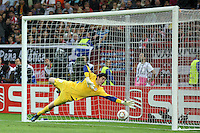 BUKARESZT 09.05.2012.MECZ FINAL LIGA EUROPY SEZON 2011/12: ATLETICO MADRYT - ATHLETIC BILBAO --- UEFA EUROPA LEAGUE FINAL 2012 IN BUCHAREST: CLUB ATLETICO DE MADRID - ATHLETIC CLUB DE BILBAO.THIBAUT COURTOIS.FOT. PIOTR KUCZA.---.Newspix.pl