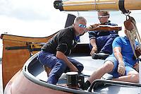 SKÛTSJESILEN: LANGWEER: 23-07-2015, SKS kampioenschap 2015, Alco Reijenga schipper skûtsje Gerben van Manen Heerenveen, ©foto Martin de Jong