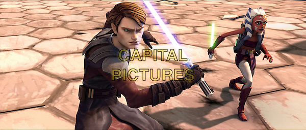 ANAKIN SKYWALKER (Matt Lanter) & AHSOKA TANO (Ashley Eckstein).in Star Wars: The Clone Wars.*Filmstill - Editorial Use Only*.CAP/FB.Supplied by Capital Pictures.