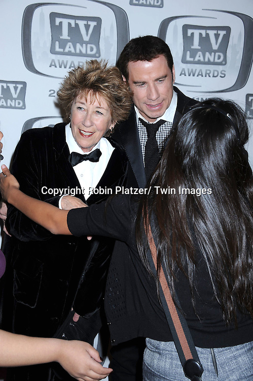 Ellen and John Travolta attending The TV Land Awards 2011 .on April 10, 2011 at the Jacob Javits Center in New York City.