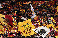 AS Roma fans cheer on during the Uefa Champions League 2018/2019 Group G football match between AS Roma and Real Madrid atOlimpico stadium , Rome, November, 27, 2018 <br />  Foto Andrea Staccioli / Insidefoto