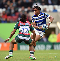 Anthony Watson of Bath Rugby in possession. Gallagher Premiership match, between Leicester Tigers and Bath Rugby on May 18, 2019 at Welford Road in Leicester, England. Photo by: Patrick Khachfe / Onside Images