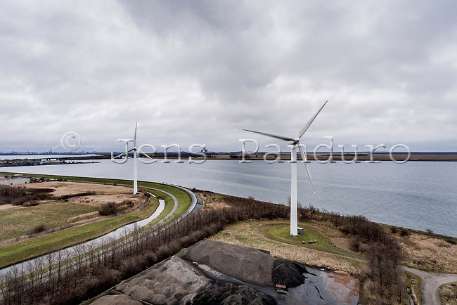 Dronebilleder af vindmøller på Avedøre Holme<br /> Foto: Jens Panduro