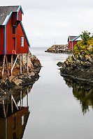 Norway, Lofoten. Å in Lofoten is traditionally a fishing village, with tourism as a growing income.