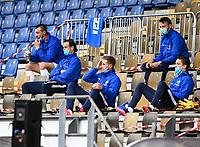 Ersatzbank SV Darmstadt 98 im Merck Stadion am Böllenfalltor - 23.05.2020: Fussball 2. Bundesliga, Saison 19/20, Spieltag 27, SV Darmstadt 98 - FC St. Pauli, emonline, emspor, v.l. Stadionansicht Innenraum, Rasen Uebersicht vor dem Spiel<br /> <br /> <br /> Foto: Florian Ulrich/Jan Huebner/Pool VIA Marc Schüler/Sportpics.de<br /> Nur für journalistische Zwecke. Only for editorial use. (DFL/DFB REGULATIONS PROHIBIT ANY USE OF PHOTOGRAPHS as IMAGE SEQUENCES and/or QUASI-VIDEO)