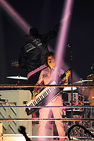 LONDON, ENGLAND - APRIL 12: R&eacute;gine Chassagne of 'Arcade Fire' performing at SSE Arena on April 12, 2018 in London, England.<br /> CAP/MAR<br /> &copy;MAR/Capital Pictures