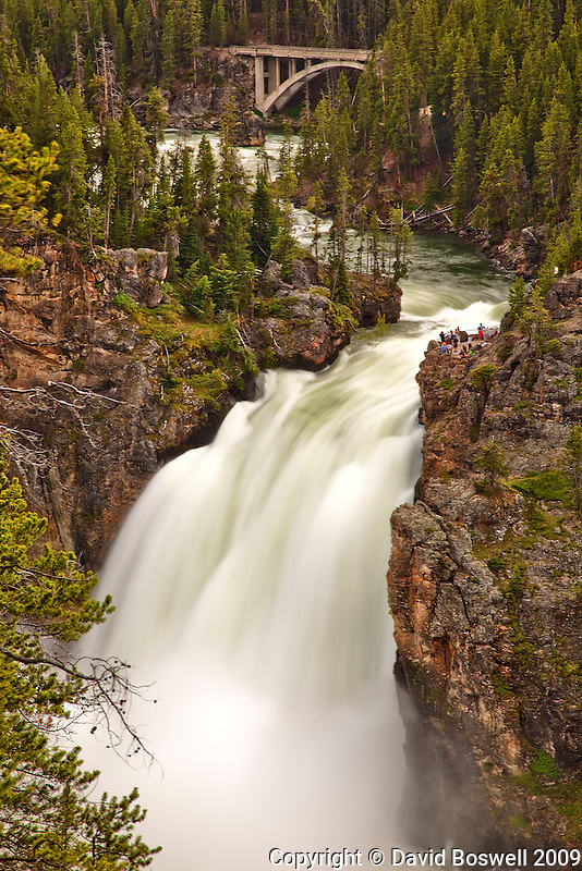 Upper Yellowstone Falls, in the Grand Canyon of Yellowstone.