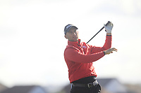 Paddy Mullins from Wales on the 12th tee during Round 2 Foursomes of the Men's Home Internationals 2018 at Conwy Golf Club, Conwy, Wales on Thursday 13th September 2018.<br /> Picture: Thos Caffrey / Golffile<br /> <br /> All photo usage must carry mandatory copyright credit (&copy; Golffile | Thos Caffrey)