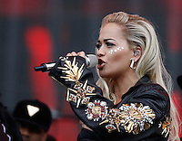 RITA ORA Performs during The New Look Wireless Festival at Finsbury Park, London, England on 28 June 2015. Photo by Andy Rowland.