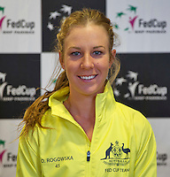 April 15, 2015, Netherlands, Den Bosch, Maaspoort, Fedcup Netherlands-Australia,    Olivia Rogowska (AUS)<br /> Photo: Tennisimages/Henk Koster